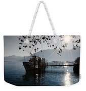 Ship In Backlight Weekender Tote Bag
