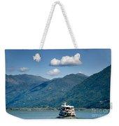 Ship On A Lake Weekender Tote Bag