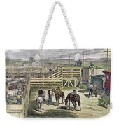 Shipping Cattle, 1877 Weekender Tote Bag