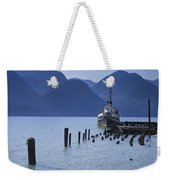 Shipping Freighter In Squamish British Columbia No.0201 Weekender Tote Bag
