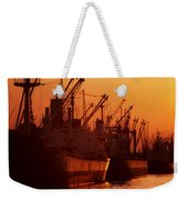 Shipping Freighters At Sunset Weekender Tote Bag