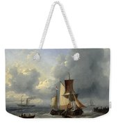 Shipping Off A Jetty Weekender Tote Bag