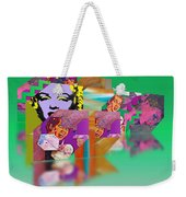 Shocking Green  Weekender Tote Bag