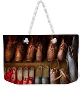 Shoemaker - Shoes Worn In Life Weekender Tote Bag by Mike Savad