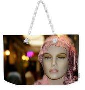 Shopping Girl Weekender Tote Bag