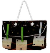 Shoppinglist Popart Weekender Tote Bag