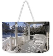 Showy Porch Weekender Tote Bag