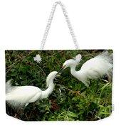 Showy Snowy Egrets Weekender Tote Bag