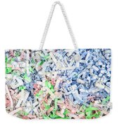 Shredded Paper Weekender Tote Bag by Tom Gowanlock