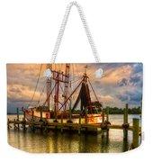 Shrimp Boat At Sunset Weekender Tote Bag