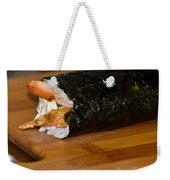 Shrimp Sushi Roll On Cutting Board Weekender Tote Bag
