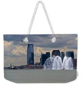 Shuttle Enterprise And Fire Boat Weekender Tote Bag by Gary Eason