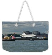Shuttle Enterprise Flag Escort Weekender Tote Bag