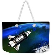 Shuttle On Orbit Weekender Tote Bag