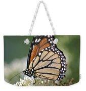 Side Profile Of A Monarch Weekender Tote Bag