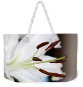 Side View Of A Lily 2 Weekender Tote Bag