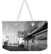 Sidewalks Of Gum In Black And White Weekender Tote Bag