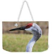Sideways Sandhill Crane Weekender Tote Bag