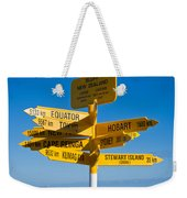 Sign Post In Sterling Point Bluff Weekender Tote Bag