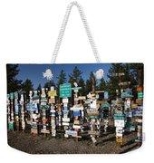 Sign Posts Forest In Watson Lake Yukon Weekender Tote Bag