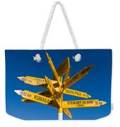 Signpost In Sterling Point Bluff Weekender Tote Bag