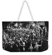 Silent Film Still: Crowds Weekender Tote Bag