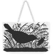 Silhouette: Bird & Insect Weekender Tote Bag