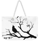 Silhouette Bird On Branch - To License For Professional Use Visit Granger.com Weekender Tote Bag