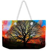 Silhouette In Winter Weekender Tote Bag