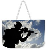 Silhouette Of A Soldier Weekender Tote Bag
