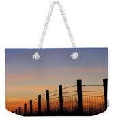 Silhouette Of Barbed Wire Fence Weekender Tote Bag