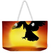 Silhouette Of Eagle Weekender Tote Bag