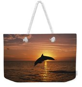 Silhouette Of Leaping Bottlenose Weekender Tote Bag