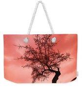 Silhouette Of Shrub Tree Weekender Tote Bag