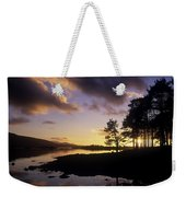 Silhouette Of Trees On The Riverbank Weekender Tote Bag