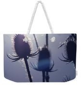Silhouette Of Weeds Weekender Tote Bag
