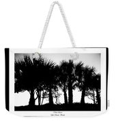 Silhouette Palm Sunset Weekender Tote Bag