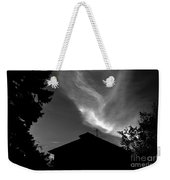 Silhouetted House And Clouds Weekender Tote Bag