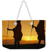 Silhouetted Laikipia Masai Guides Weekender Tote Bag