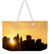 Silhouetted Manhattan  Weekender Tote Bag
