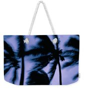 Silhouetted Palm Trees Blow In The Wind Weekender Tote Bag