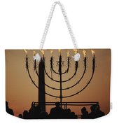 Silhouetted Worshippers Stand Weekender Tote Bag