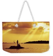 Silhouettes On The Beach Weekender Tote Bag by Carlos Caetano
