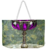 Silver Chalice With Jewels Weekender Tote Bag by Jill Battaglia
