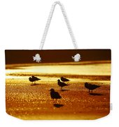 Silver Gulls On Golden Beach Weekender Tote Bag