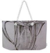 Silver Teapot Weekender Tote Bag