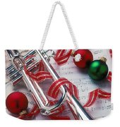 Silver Trumper And Christmas Ornaments Weekender Tote Bag