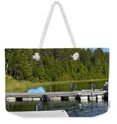Simple Waterslide On Portage Lake Weekender Tote Bag