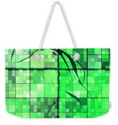 Sinful Geometric Green Weekender Tote Bag