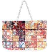 Sinful Geometric Red Weekender Tote Bag